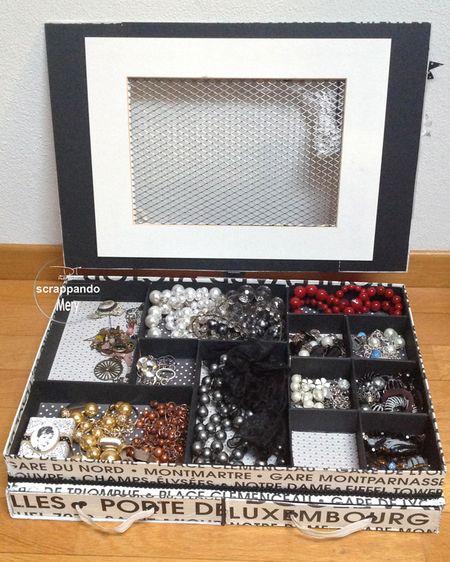 Scatola portagioie scrappando carta ricordi - Porta gioielli ikea ...