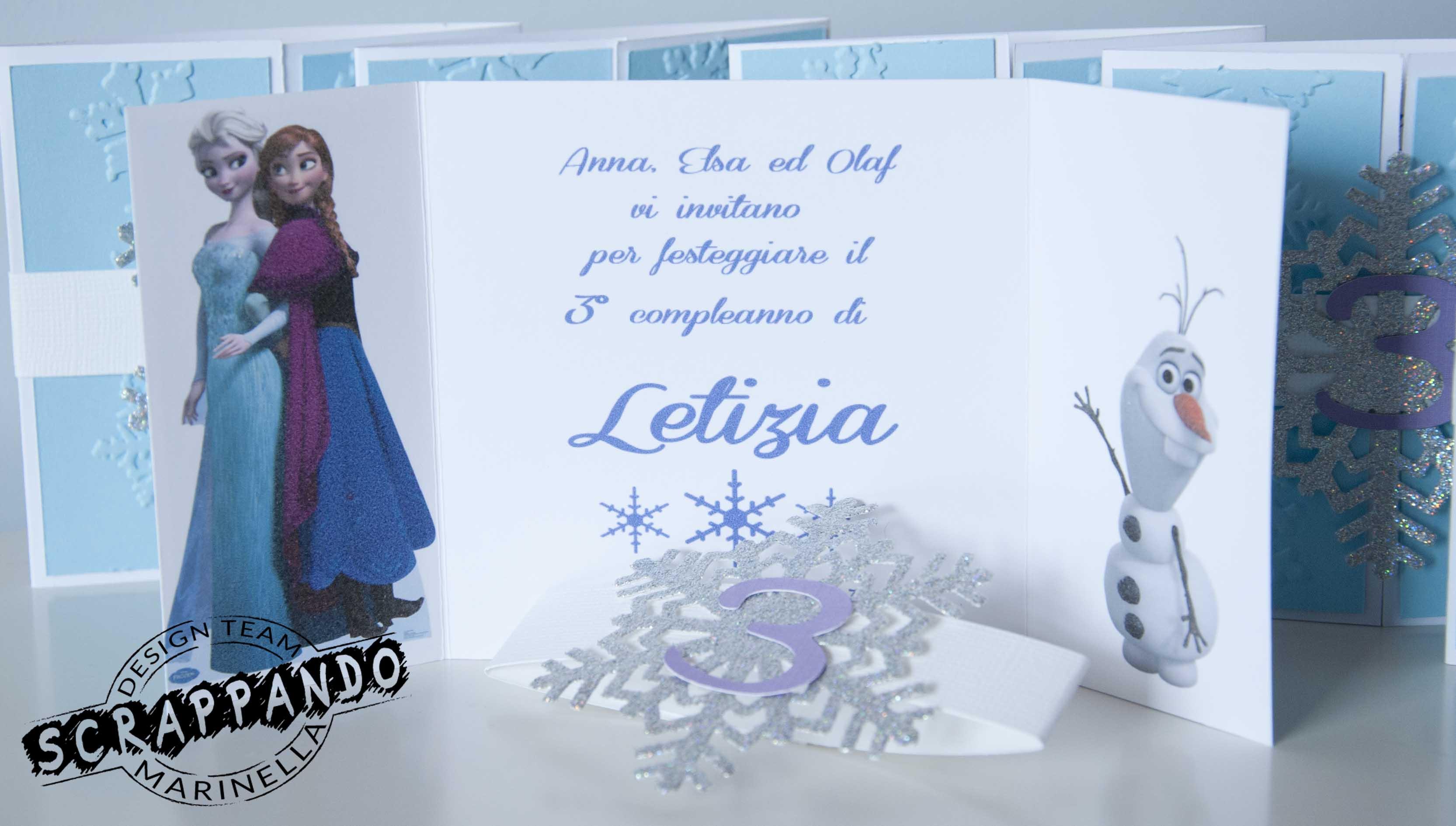 Molto Un compleanno nel regno di ghiaccio di Frozen | Scrappando Carta  GA05