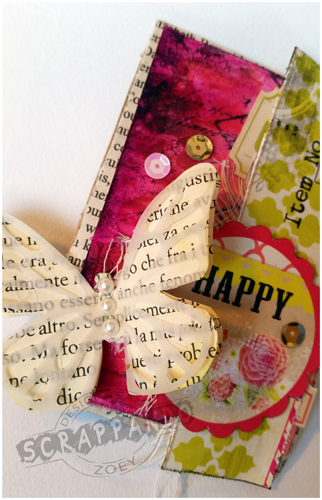 Zoey Scrappando Mixed Media ATC