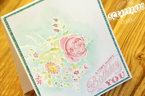 WATERCOLOR AND WHITE EMBOSSING DETAIL