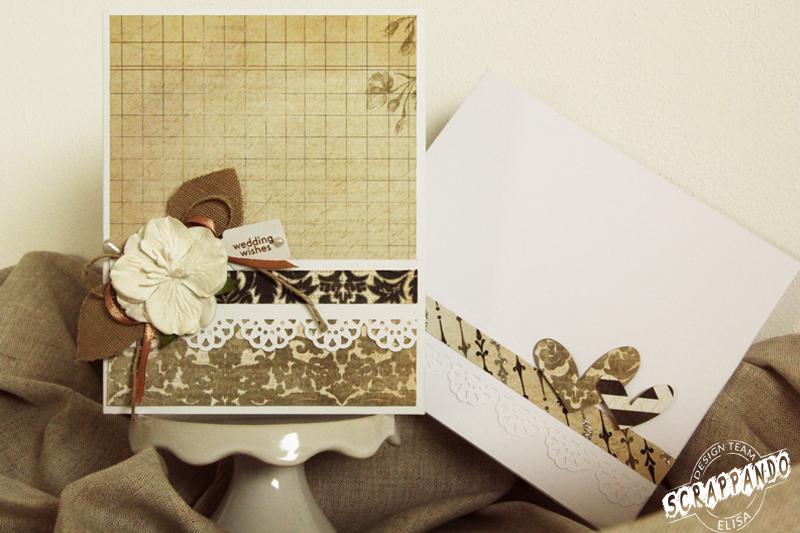 Busta Matrimonio Toscana : Card e busta per un matrimonio scrappando carta ricordi