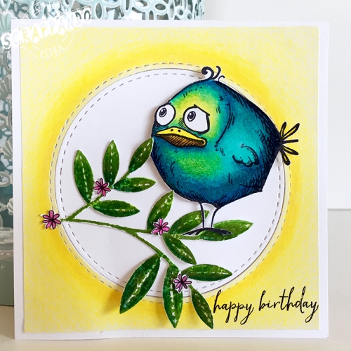crazy bird card