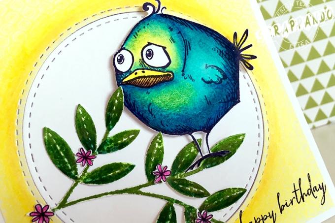 crazy bird card