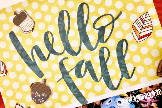 Hello fall layout, title