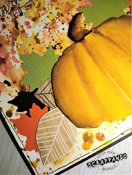 card autunno dettaglio zucca